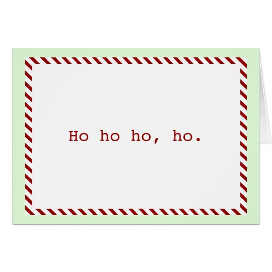 "Modern ""Ho ho ho, ho"" Holiday Card"