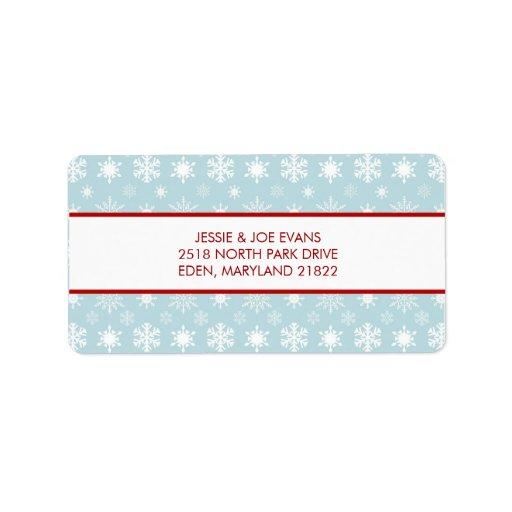 Modern Holiday Address Mailing Labels