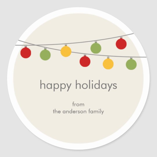 Modern Holiday Christmas Ornaments Gift Tag