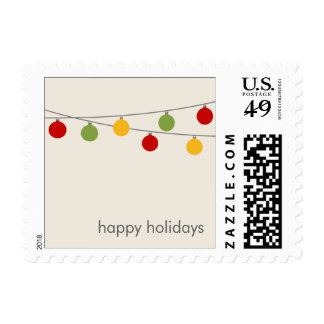 Modern Holiday Christmas Ornaments Postage Stamp