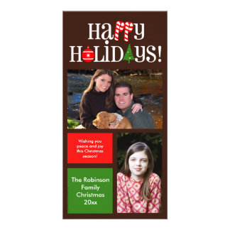 Modern Holiday Color Blocks 2 Card
