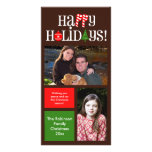 Modern Holiday Color Blocks 2 Photo Cards