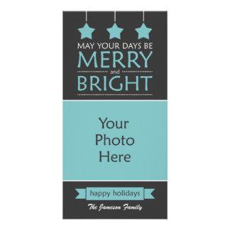 Modern Holiday Customized Photo Card