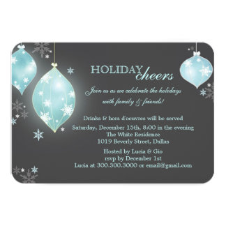 Modern Holiday Glitter Christmas Party Card