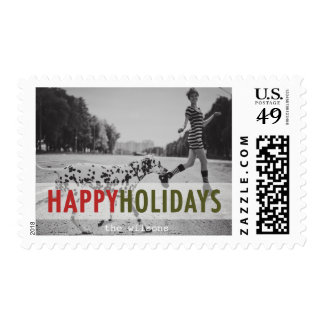 Modern Holiday   Holiday Photo Stamps