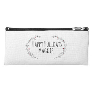 Modern Holiday, Holly Berry Pencil Case