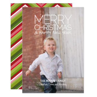 Modern Holiday - Merry Christmas HNY Full Photo Card