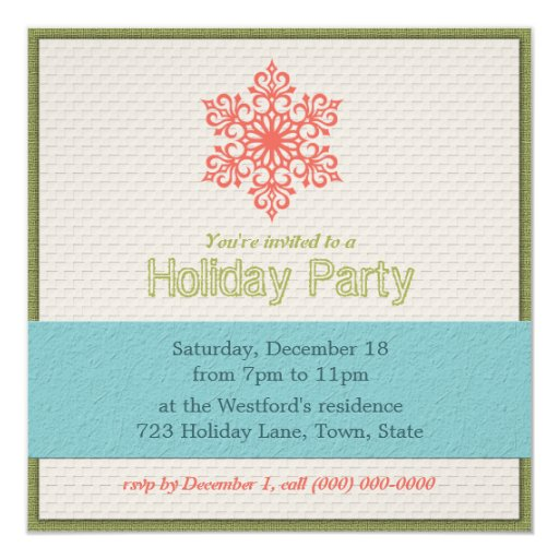 Modern Holiday Party Invitations