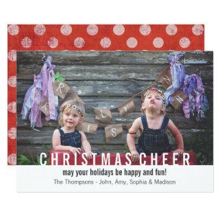 Modern Holiday Photo Card Christmas Cheer