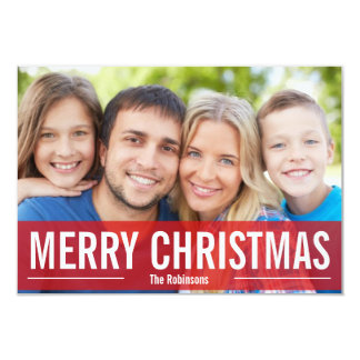 MODERN HOLIDAY PHOTO CARD MERRY CHRISTMAS
