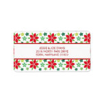 Modern Holiday Poinsettia Address Mailing Labels