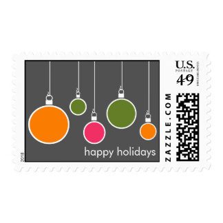 Modern Holiday Postage Stamp