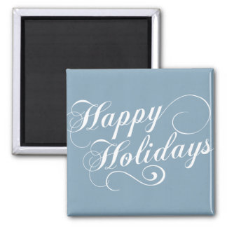 Modern Holiday Script Gift 2 Inch Square Magnet