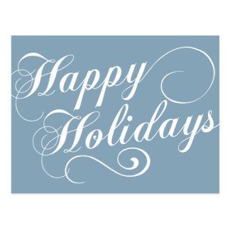 Modern Holiday Script Gift Postcard