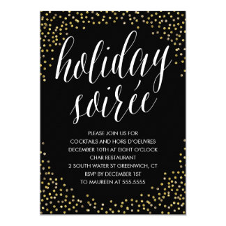 Modern Holiday Soiree Party Invitation