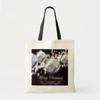 Modern Holiday sparkling ornament Christmas Tote Bag