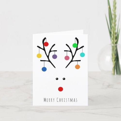 Modern Holiday Whimsical Reindeer Christmas