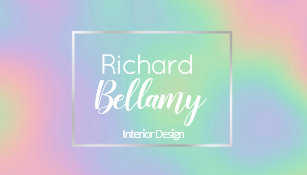 modern holographic rainbow metal business card - Holographic Business Cards