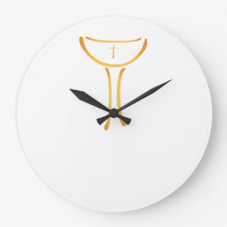 Modern Holy Chalice Christian symbol Large Clock