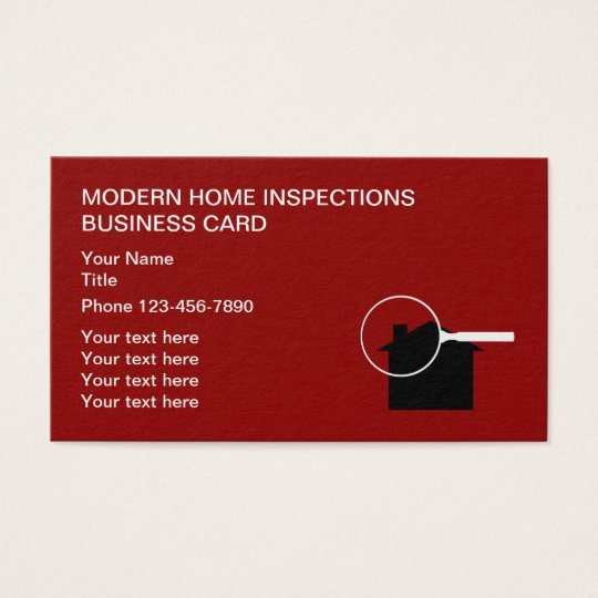 Modern home inspection business cards zazzle modern home inspection business cards colourmoves
