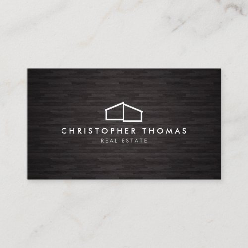 Modern Home Logo Architecture Real Estate Dk Wood Business Card