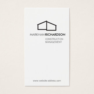 Modern Home Logo for Construction, Realtor Business Card