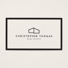 Modern Home Logo for Real Estate, Realtor Business Card at Zazzle