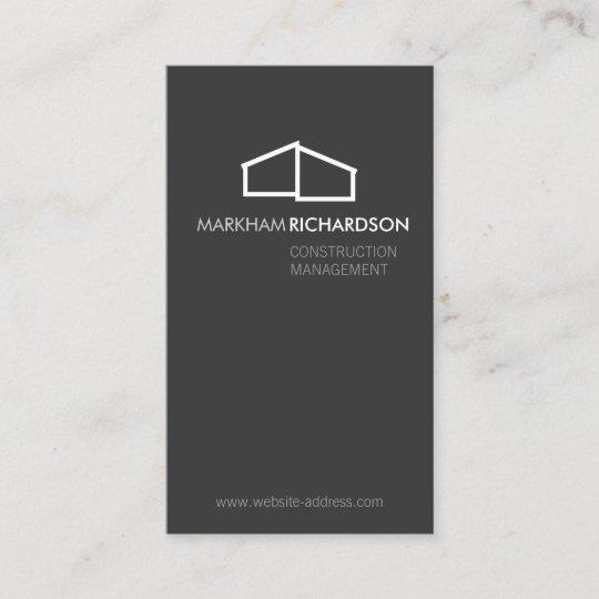 Modern home logo on gray for construction realtor business card modern home logo on gray for construction realtor business card colourmoves