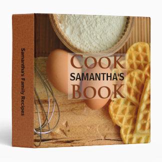 Modern Homespun Ingredients Recipe Binder Cookbook