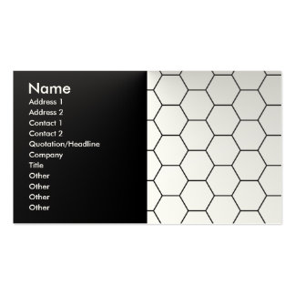 Modern honeycomb Double-Sided standard business cards (Pack of 100)