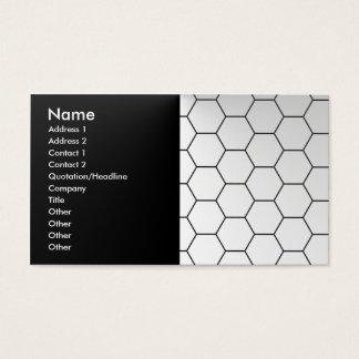 Modern honeycomb business card