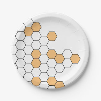 Modern Honeycomb | Celebration Paper Plate