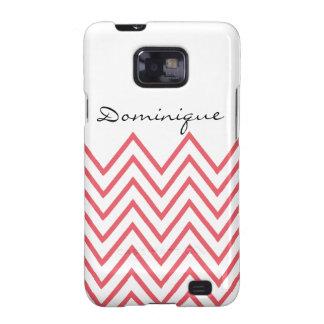 Modern Honeysuckle Pink Chevron Samsung Galaxy S2 Cover