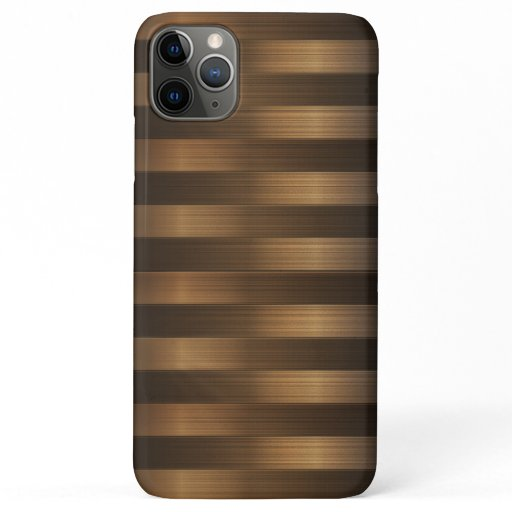 Modern Horizontal Metal Stripes iPhone 11 Pro Max Case