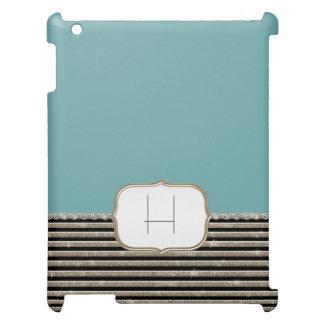 Modern Horizontal Stripe Glitter Look Bling Mod Cover For The iPad 2 3 4