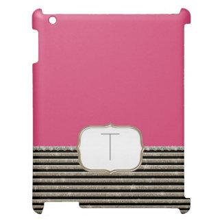 Modern Horizontal Stripe Glittler Look Bling Mod Cover For The iPad 2 3 4