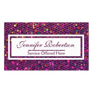 Modern Hot Pink Glitter Business Card