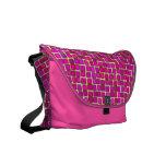 Modern Hot Pink Mosaic Tile Pattern Commuter Bags