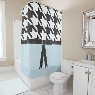 Modern Houndstooth Shower Curtain