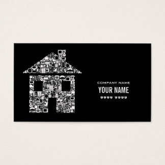 Modern House Home Services Template Business Card