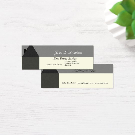 Modern House Real Estate Agent House Services Prov Mini Business Card