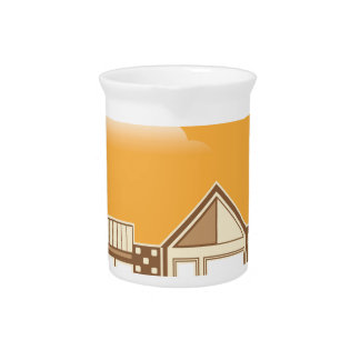 Modern house vector simplistic drink pitcher