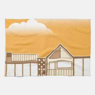 Modern house vector simplistic hand towel
