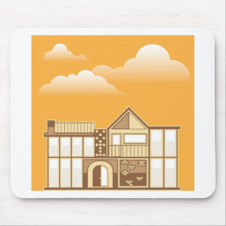 Modern house vector simplistic mouse pad