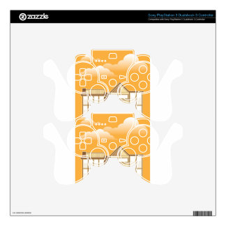Modern house vector simplistic PS3 controller skin