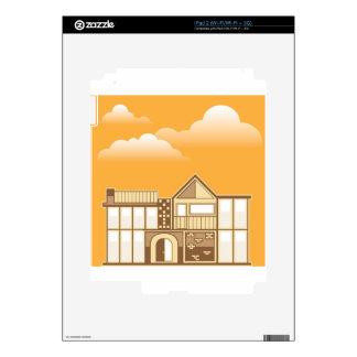 Modern house vector simplistic skin for iPad 2