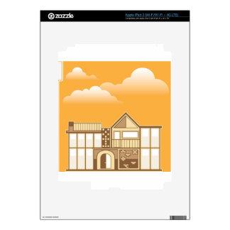 Modern house vector simplistic skin for iPad 3
