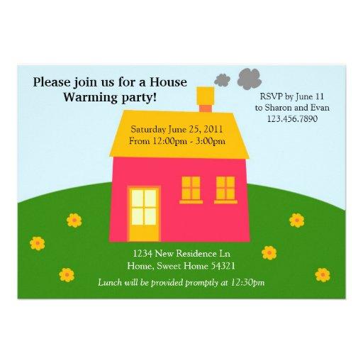 Modern House Warming Invite