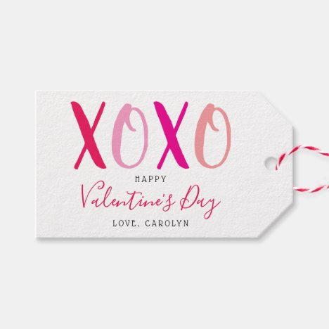 Modern Hugs & Kisses (XOXO) Valentine's Day Gift Tags