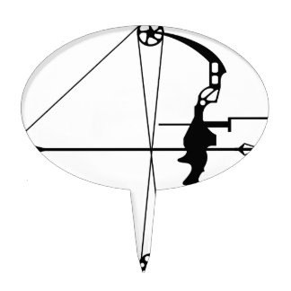 Modern Hunting Bow and Arrow Cake Topper